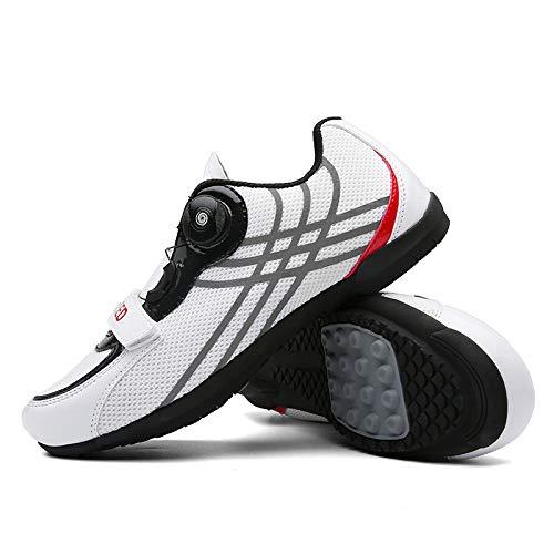 KUXUAN Calzado para Montar en Bicicleta Deportes Al Aire Libre Equipo para Montar Calzado Deportivo Especial Al Aire Libre,White-8UK=(260mm)=42EU