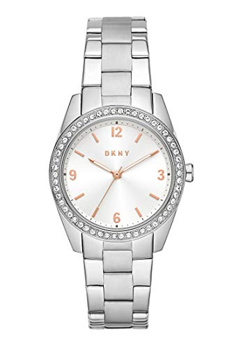 DKNY NY2901 Nolita Uhr Damenuhr Edelstahl Edelstahl 5 bar Analog Silber