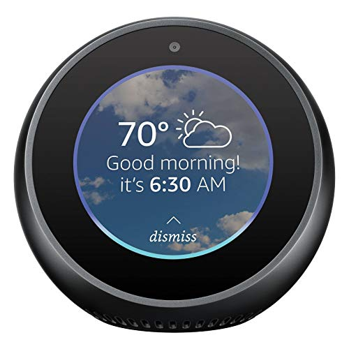 Amazon Echo Spot 1st Generation 2017 Smart Alarm Clock with Alexa Black