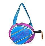 IDAWEN Sport Fashion Paletero de Pádel - con Bolsillo para Pala de Pádel - Paletero Pádel Mujer - Bolsa Impermeable - Color Rosa/Azul - Tamaño Mediano - 41 x 11 x 32 cm