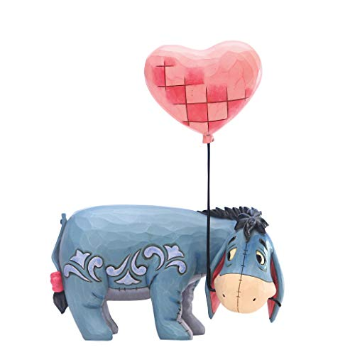 Enesco Disney Traditions by Jim Shore Winnie The Pooh Eeyore with Heart Balloon Figurine, 7.91 Inch, Multicolor