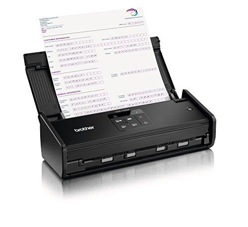 Brother ADS-1100W Dokumentenscanner (Duplex, 1200 x 1200 dpi, USB 2.0, WLAN) schwarz