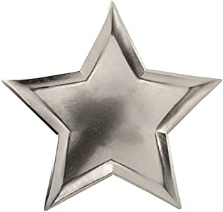Set of 8 Star Shaped Plates for Ramadan Iftaar or Eid Party Tableware Supplies (Silver)