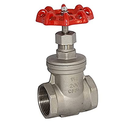 """1-1/4"""" NPT Female Thread Heavy Duty Gate Valve,Stainless Steel SUS SS 316,CF8M by GlobalMa"""