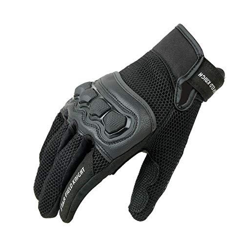 2020 Neueste Moto Handschuhe Summer Mesh Schutzhandschuhe Motorrad MTB Bike Offroad Motorradhandschuhe-Black2-L