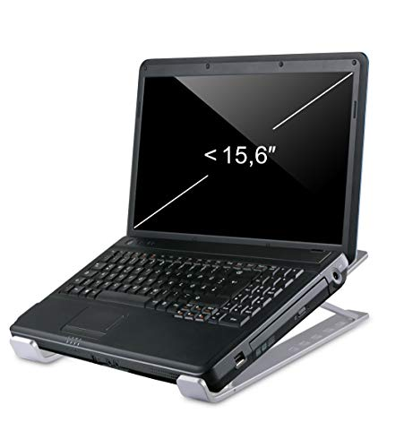 Blumax - Soporte de aluminio ergonómico para portátiles Apple MacBook, Dell, HP, Samsung, Lenovo, etc. de 10 a 15,6 pulgadas