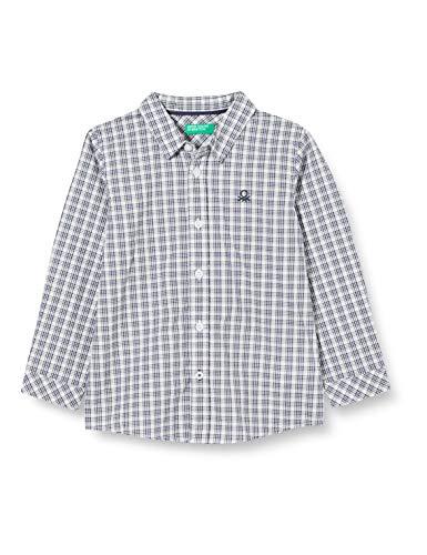 United Colors of Benetton (Z6ERJ) Jungen Camicia Hemd, Blu 92n, 104 cm