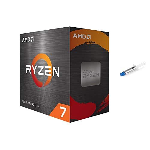 AMD-Ryzen 7 5800X 4. Generation 8-Core Desktop Prozessor ohne Kühler, 16-Threads, entsperrt, 3,8 GHz bis 4,7 GHz, Sockel AM4, Zen 3 Core Architektur, StoreMI-Technologie mit Mytrix-Wärmeleitpaste