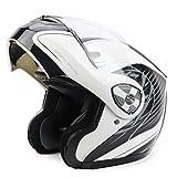 Bluetooth para Adultos Motocicleta Casco de Motocicleta Off-Road Flip Up Cara Llena Invierno Cálido Moto Motocross Cascos XXL