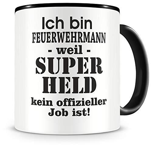 Samunshi® Ich bin Feuerwehrmann Tasse Beruf Geschenk Kaffeetasse Teetasse Kaffeepott Kaffeebecher Becher 300ml Feuerwhermann