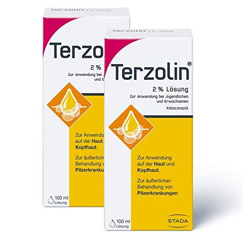 Terzolin 2 x medizinische Schuppen-Kur - 2% Lösung zur Anwendung bei Jugendlichen und Erwachsenen - 2 x 100 ml, 400 g