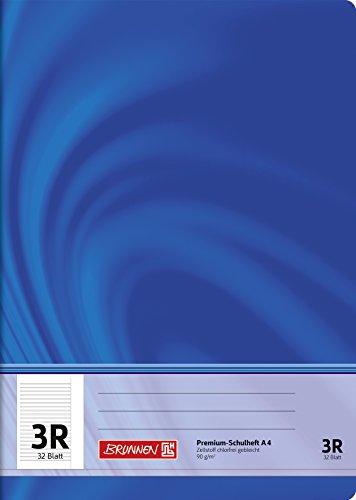 Brunnen 104440323 Schulheft A4 Vivendi (32 Blatt, liniert mit Rand, Lineatur 3R, Klasse 3)