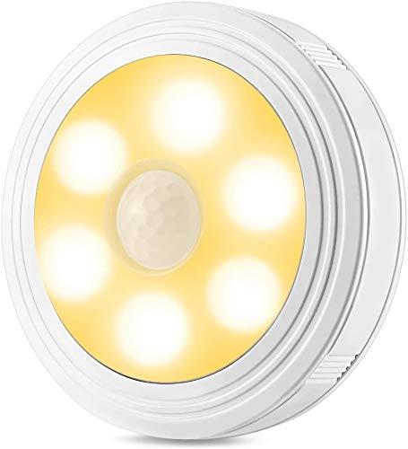 Nachtlampje met bewegingsmelder Batterij-Bediende LED Nachtlampje Wandlamp Trappenkast Licht voor Hallway Slaapkamer Badkamer Keuken door Famirosa (Warm Wit 3 Pack)