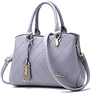 ALQDPL Female bag Crossbody New fashion lady Messenger bags simple design generous rhombus pattern soft leather women Shoulder bag Handbag