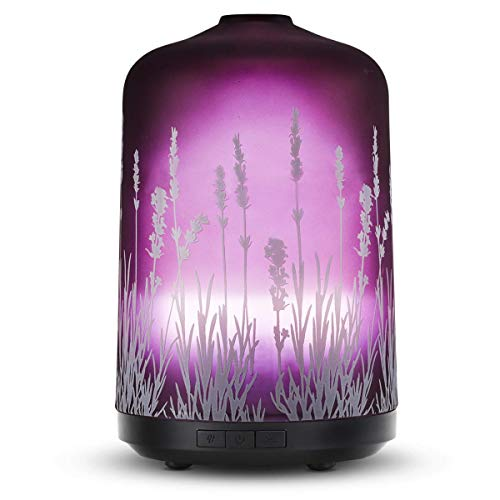 Lavender Aroma Essential Oil Diffuser 250ml Aromatherapy Ultrasonic Cool Mist Whisper Quiet...