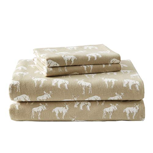 Eddie Bauer - Flannel Collection - 100% Premium Cotton Bedding Sheet Set, Pre-Shrunk & Brushed For Extra Softness, Comfort, and Cozy Feel, King, Buckhead Ridge