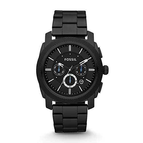 Fossil Men's Machine Quartz Stainless Steel Chronograph Watch, Color: Black (Model: FS4552)