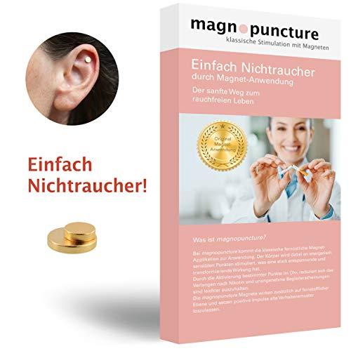 magnopuncture – anti-rookmagneet, origineel magneetgebruik, eenvoudig niet-rokers – rookontwonen door magnetische stimulatie, extra stressvrije massagering
