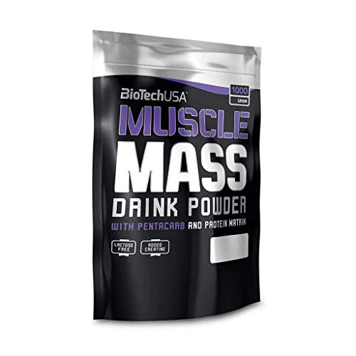 BioTech Muscle Mass Mezcla de Proteínas, Sabor Fresa - 1000 gr