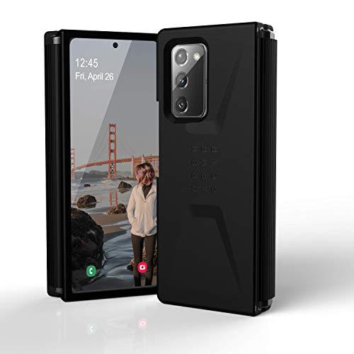 Urban Armor Gear Civilian Hülle für das Samsung Galaxy Z Fold2 5G Schutzhülle [Offiziell Designed for Samsung Zertifiziert, Wireless Charging kompatibeles Cover, Sturzfestes Hülle] schwarz