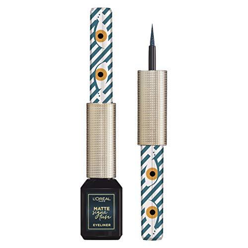 L'Oréal Paris Eyeliner Edizione Limitata Basta uno Sguardo, Pennellino in Feltro, Finish Matte a Lunga Durata, Resistente all'Acqua