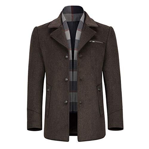 Allthemen Trench Coat in Lana da Uomo Giacca da Lavoro in Lana Calda a Vita Bassa Invernale. Trench Coat