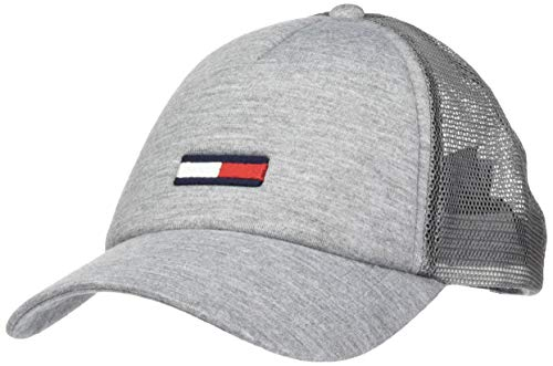 Tommy Hilfiger Herren TJM Trucker Jersey Baseball Cap, Grau (Light Grey Heather P), One Size (Herstellergröße: OS)