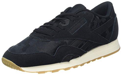 Reebok Herren Classic Nylon SG Sneaker, Schwarz (Black/Chalk), 44.5 EU