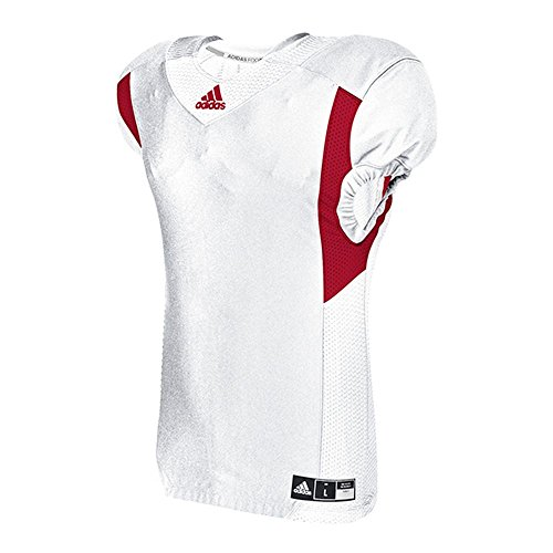 adidas Techfit Hyped Football Jersey Camiseta, Blanco/Rojo Poder, XL para Hombre