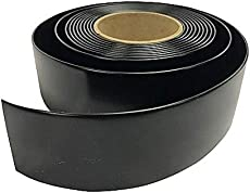 """1.5"""" Wide x 20' Roll Vinyl Strap for Patio Pool Lawn Garden Furniture- Make Your Own Replacement Straps. 20 Free Strap Fasteners Included! (Black)"""