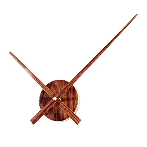 QXbecky Reloj de Bricolaje Accesorios de Reloj Puntero Extra Grande Reloj de Madera Reloj Concha Creativo Arte Retro Movimiento de Reloj de Pared de Madera