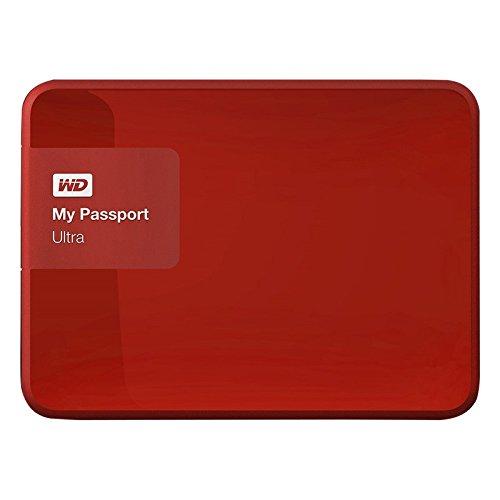 Western Digital My Passport Ultra 1TB 2.5 'USB 3.0 Disco Duro Externo Rojo