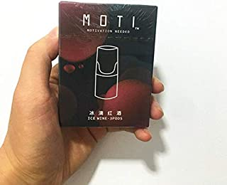 Moti replacement pods 2packs get free battery 魔笛烟弹 两盒六颗装 送 杆子 2箱のスモークオイルを購入して機械に送る (冰滴红酒 ワイン)