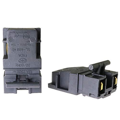ToToT 2pcs Steam Electric Kettle Thermostat, Temperature Control, 250V 13A 2 Terminals, SL-888-B
