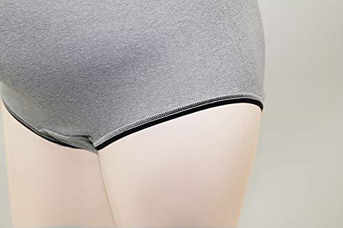 エンゼルかゆくなりにくい肌にやさしいマタニティショーツ脇に縫い目がない日本製(グレー)