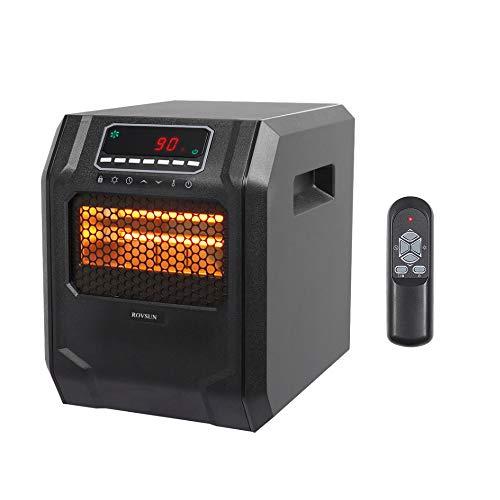 ZOKOP Electric Infrared Quartz Heater - ETL 750W/1500W 4-Element Space Heater With 3 Heat Settings,...