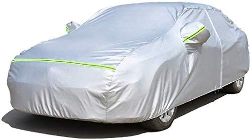 Cubierta del coche grande Cubierta del coche a prueba de agua de lluvia de polvo Sun UV for cualquier estación Protección impermeable con cremallera de algodón for Automóviles sedán cubierta Fit al ai