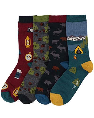 Thought Herren Wohnmobil Bambus und Bio-Baumwolle Geschenkbox Socken Packung mit 4 Gemischt 40-43