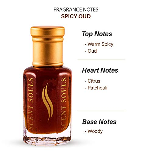 Scent Souls Spicy Oud Long Lasting Attar Fragrance Perfume Oil For Men & Women- 3 ml