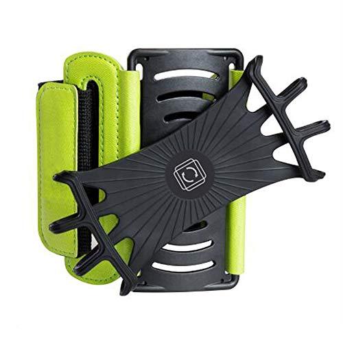 HUOFEIKE Silikon 90 ° drehbare Handgelenkstasche für alle Handymodelle, die Outdoor-Sportarten ausführen