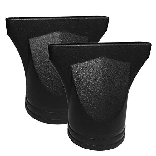 EXCEART Boquilla Secador de Pelo Profesional Universal Reutilizable Secador de Pelo Difusor Herramienta de Peluquería para Salón de Casa 2 Piezas (Negro)