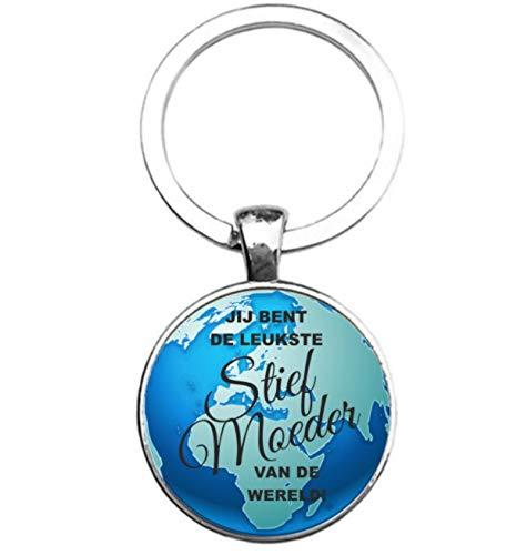 Sleutelhanger Glas - Leukste Stief Moeder Van De Wereld