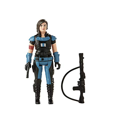 Star Wars Retro Collection Cara Dune Toy 3.75-Inch-Scale The Mandalorian Action Figure with Accessories, Toys for Kids Ages 4 and Up