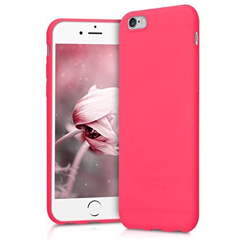 kwmobile Cover Compatibile con Apple iPhone 6 / 6S - Cover Custodia in Silicone TPU - Backcover Protezione Posteriore - Rosa Shocking