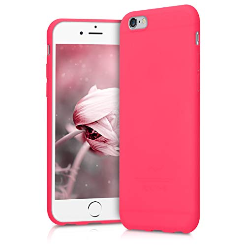 kwmobile Cover Compatibile con Apple iPhone 6 / 6S - Custodia in Silicone TPU - Backcover Protezione Posteriore- Rosa Shocking