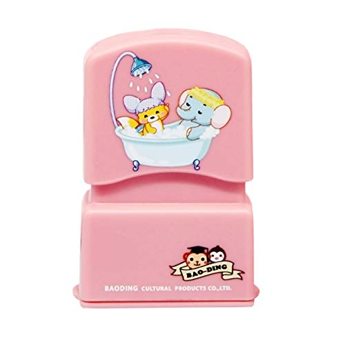Custom Stamp For Kids Personalized Name Children Sticker Clothes Word Waterproof Wash Not Faded Customized Stamps (Pink)