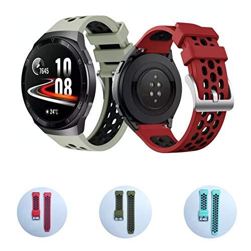 (3 Uds) Muy suave correa compatible con Huawei Watch GT2e, repuesto para reloj inteligente Colores (Pack 3)