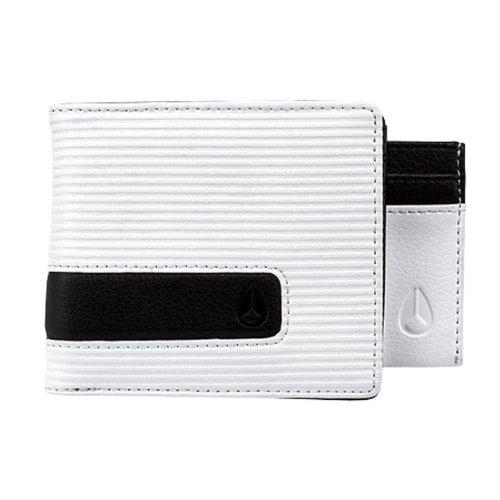 Nixon Münzbörse Showtime Portemonnaie mit Münzfach Weiß (White Fine Stripe) 3608700038254
