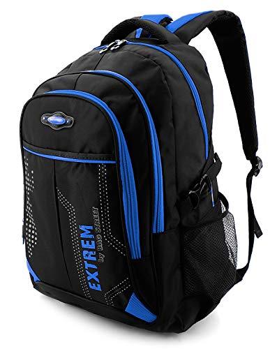 Rucksack Damen & Herren Daypack für Alltag, Arbeit, Reisen & Schule - Wasserabweisend (Blau)