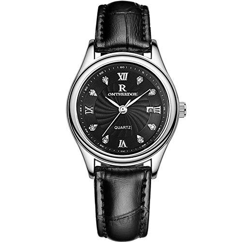 CHENDX Nuevo Negocio Genuino Ultra Delgado Negocio a Prueba de Agua Realmente cinturón Reloj de Cuarzo Relojes Reloj Mujer a los Estudiantes Masculinos mira el Reloj de la Mesa Femenina (Color : 8)